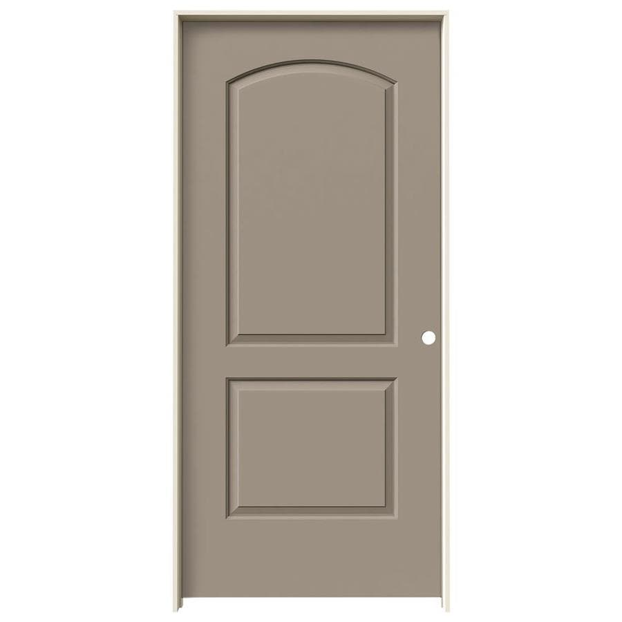 JELD-WEN Continental Sand Piper Solid Core Molded Composite Single Prehung Interior Door (Common: 36-in x 80-in; Actual: 37.5620-in x 81.6880-in)