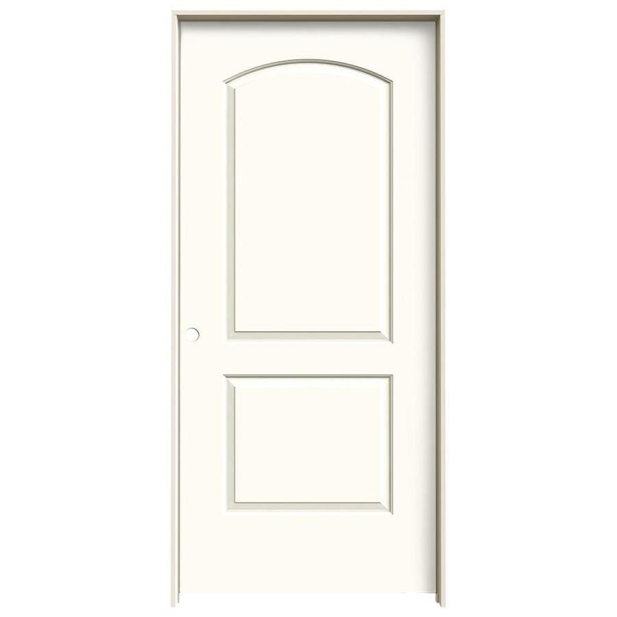 JELD-WEN White Prehung Solid Core 2-Panel Round Top Interior Door (Common: 36-in x 80-in; Actual: 37.562-in x 81.688-in)