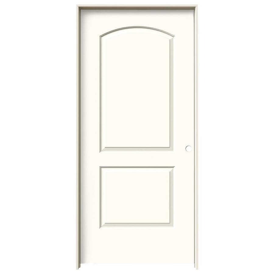 JELD-WEN White Prehung Solid Core 2-Panel Round Top Interior Door (Common: 36-in x 80-in; Actual: 37.562-in x 81.688-in)