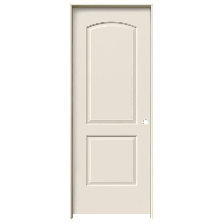 JELD-WEN Continental Primed Solid Core Molded Composite Single Prehung Interior Door (Common: 24-in x 80-in; Actual: 25.562-in x 81.688-in)