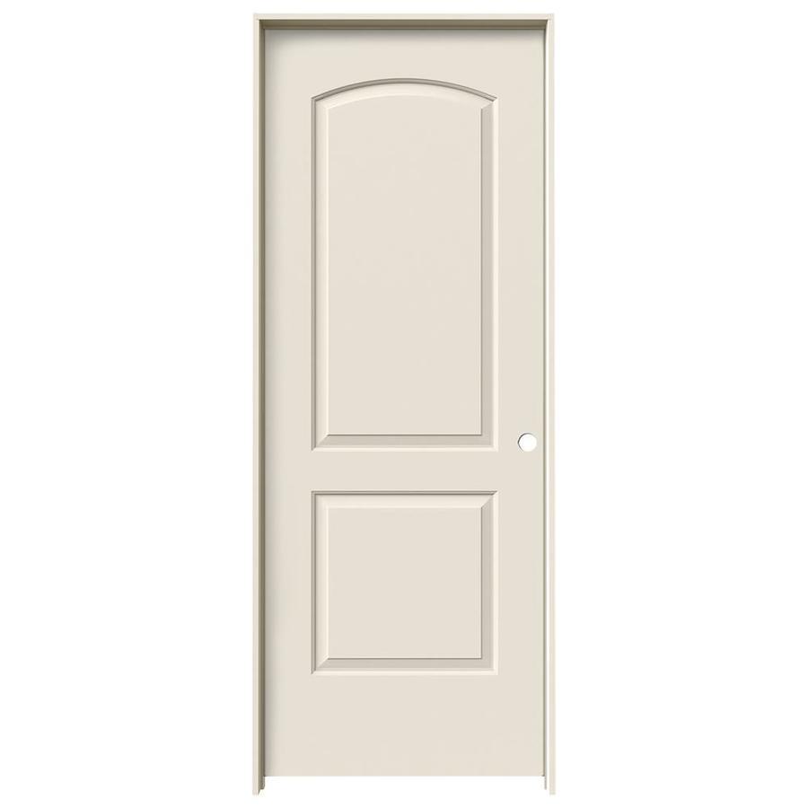 JELD-WEN Prehung Solid Core 2-Panel Round Top Interior Door (Common: 30-in x 80-in; Actual: 31.562-in x 81.688-in)
