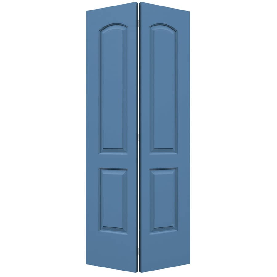 ReliaBilt Continental Blue Heron Bi-Fold Closet Interior Door (Common: 36-in x 80-in; Actual: 35.5000-in x 79-in)