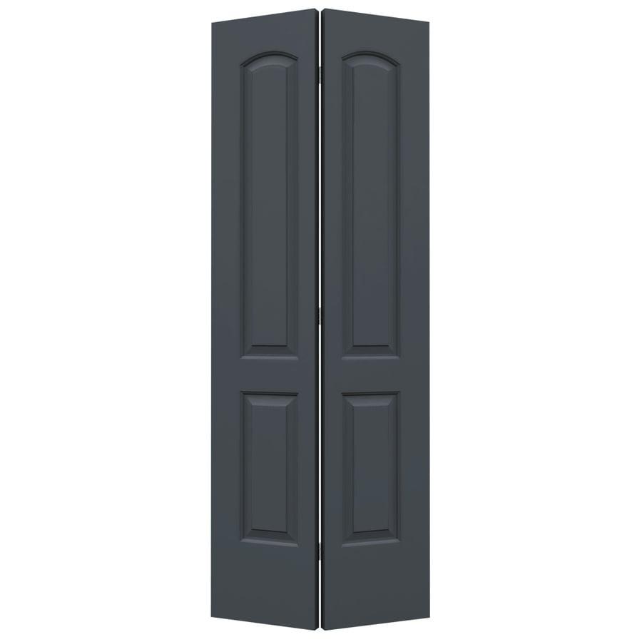 ReliaBilt Slate Hollow Core 2-Panel Round Top Bi-Fold Closet Interior Door (Common: 24-in x 80-in; Actual: 23.5-in x 79-in)