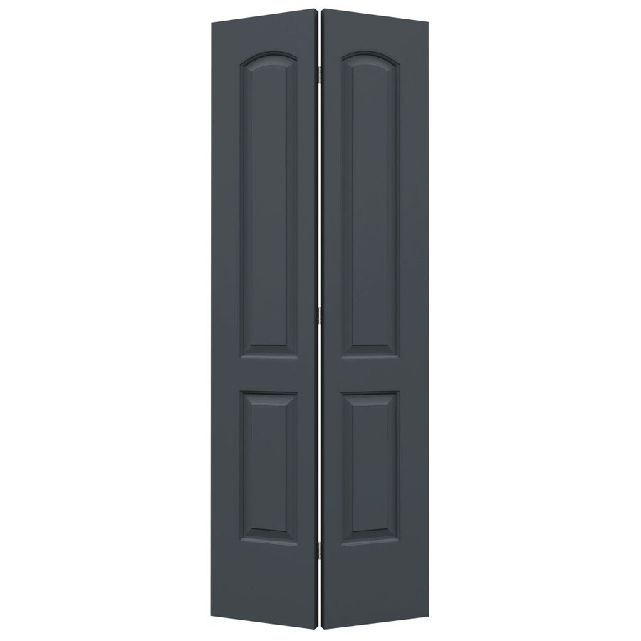 ReliaBilt Slate 2-panel Round Top Bi-fold Closet Interior Door (Common: 30-in X 80-in; Actual: 29.5000-in x 79-in)