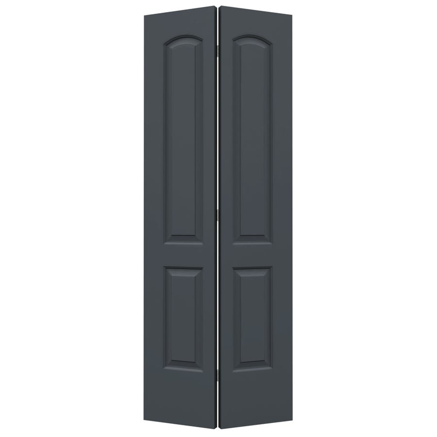 ReliaBilt Slate 2-panel Round Top Bi-fold Closet Interior Door (Common: 32-in x 80-in; Actual: 31.5-in x 79-in)