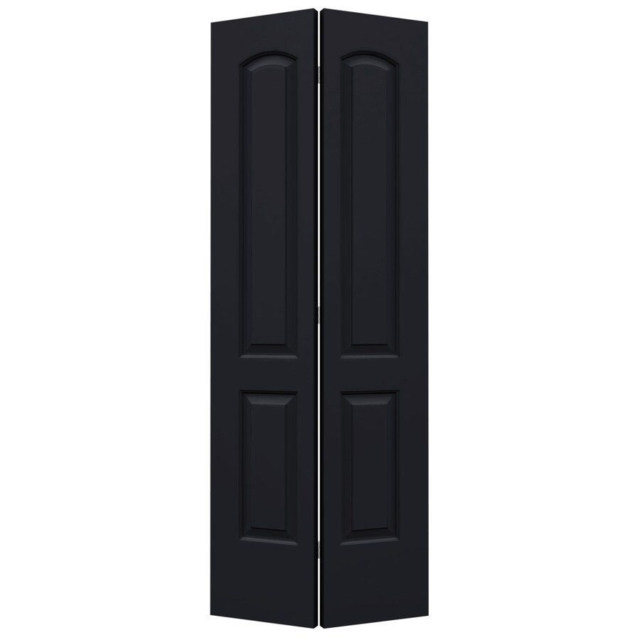 ReliaBilt Midnight Hollow Core 2-Panel Round Top Bi-Fold Closet Interior Door (Common: 32-in x 80-in; Actual: 31.5-in x 79-in)