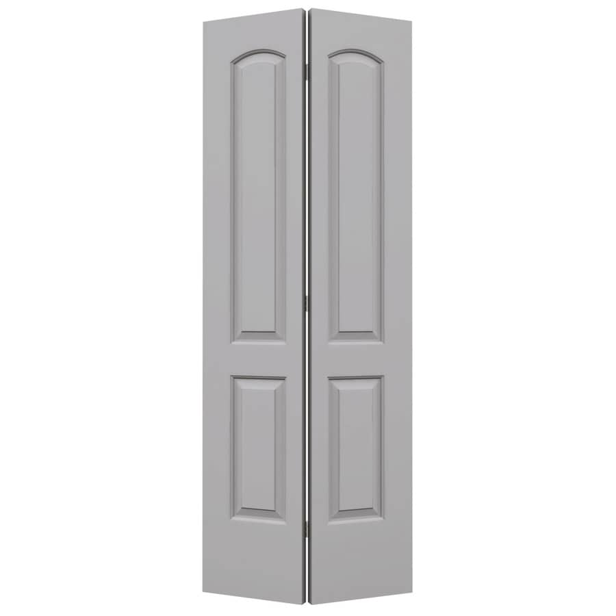 ReliaBilt Driftwood Hollow Core 2-Panel Round Top Bi-Fold Closet Interior Door (Common: 24-in x 80-in; Actual: 23.5-in x 79-in)