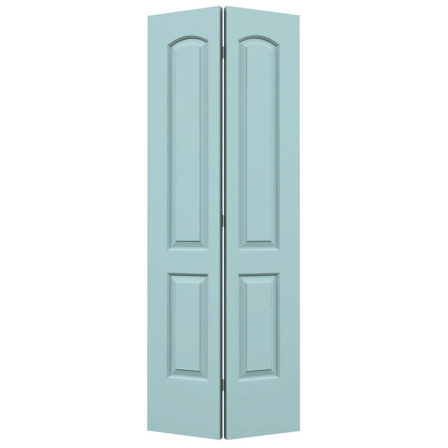 ReliaBilt Sea Mist Hollow Core 2-Panel Round Top Bi-Fold Closet Interior Door (Common: 24-in x 80-in; Actual: 23.5-in x 79-in)