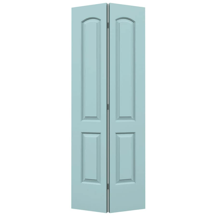 ReliaBilt Continental Sea Mist Hollow Core Molded Composite Bi-Fold Closet Interior Door with Hardware (Common: 32-in x 80-in; Actual: 31.5000-in x 79-in)