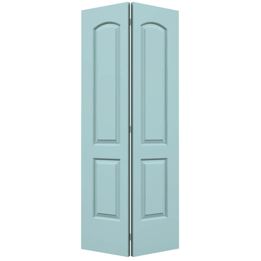 ReliaBilt Sea Mist Hollow Core 2-Panel Round Top Bi-Fold Closet Interior Door (Common: 36-in x 80-in; Actual: 35.5-in x 79-in)