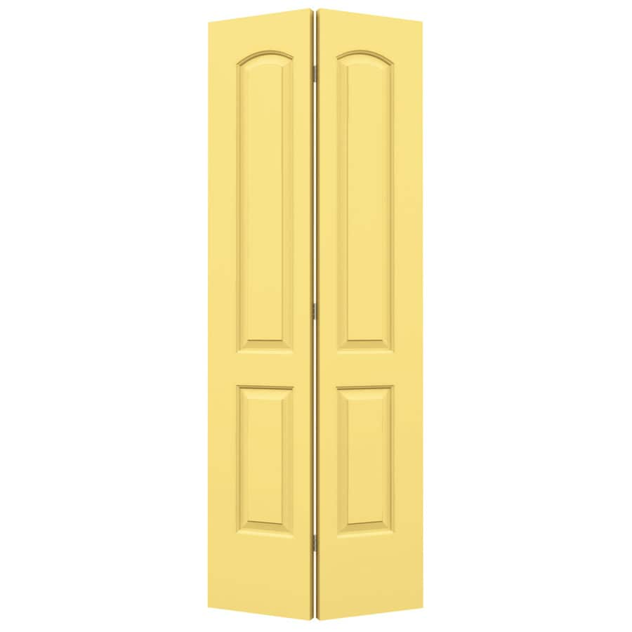 ReliaBilt Marigold Hollow Core 2-Panel Round Top Bi-Fold Closet Interior Door (Common: 24-in x 80-in; Actual: 23.5-in x 79-in)