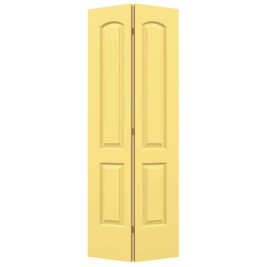 ReliaBilt Continental Marigold Hollow Core Molded Composite Bi-Fold Closet Interior Door with Hardware (Common: 28-in x 80-in; Actual: 27.5000-in x 79-in)