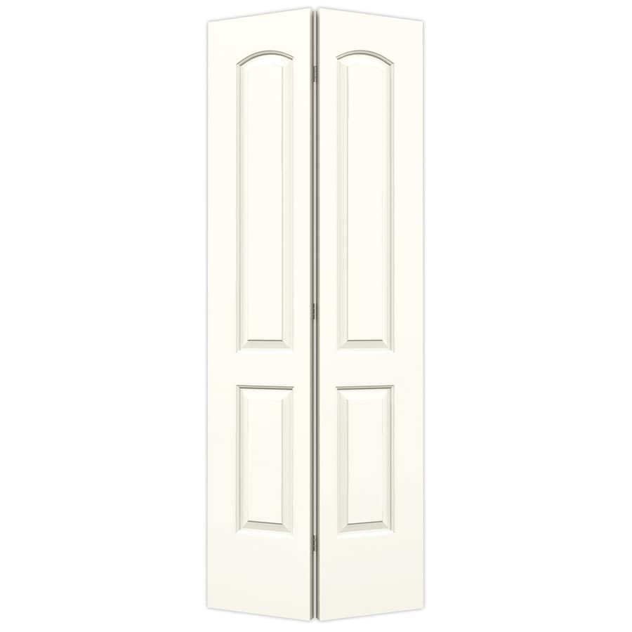 ReliaBilt Moonglow Hollow Core 2-Panel Round Top Bi-Fold Closet Interior Door (Common: 24-in x 80-in; Actual: 23.5-in x 79-in)