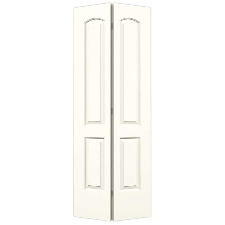 ReliaBilt Moonglow Hollow Core 2-Panel Round Top Bi-Fold Closet Interior Door (Common: 32-in x 80-in; Actual: 31.5-in x 79-in)