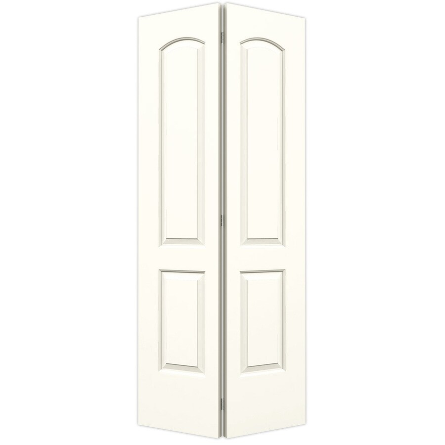 2 Panel Bifold Doors : Shop reliabilt moonglow hollow core panel round top bi