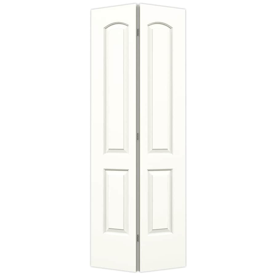 ReliaBilt Continental Snow Storm Hollow Core Molded Composite Bi-Fold Closet Interior Door with Hardware (Common: 28-in x 80-in; Actual: 27.5-in x 79-in)
