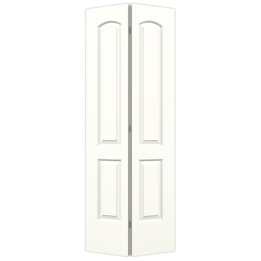ReliaBilt Snow Storm 2-panel Round Top Bi-fold Closet Interior Door (Common: 32-in x 80-in; Actual: 31.5000-in x 79-in)