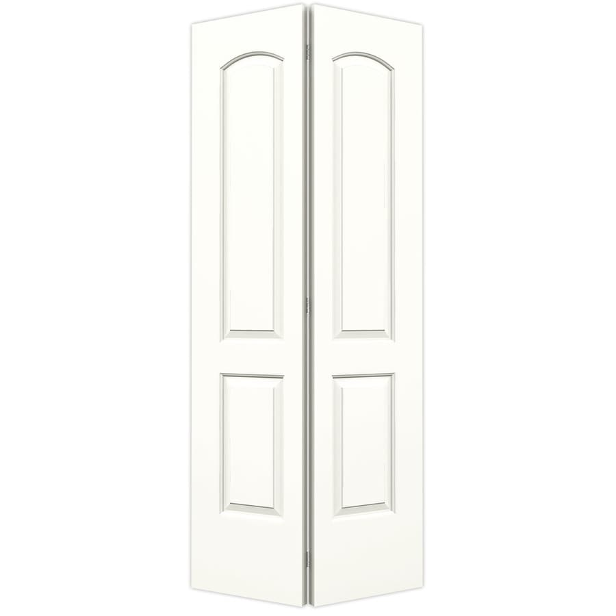 ReliaBilt Snow Storm Hollow Core 2-Panel Round Top Bi-Fold Closet Interior Door (Common: 36-in x 80-in; Actual: 35.5-in x 79-in)