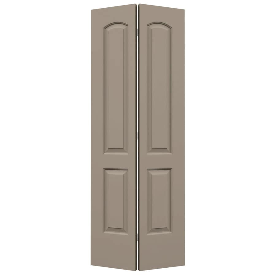 ReliaBilt Sand Piper Hollow Core 2-Panel Round Top Bi-Fold Closet Interior Door (Common: 24-in x 80-in; Actual: 23.5-in x 79-in)