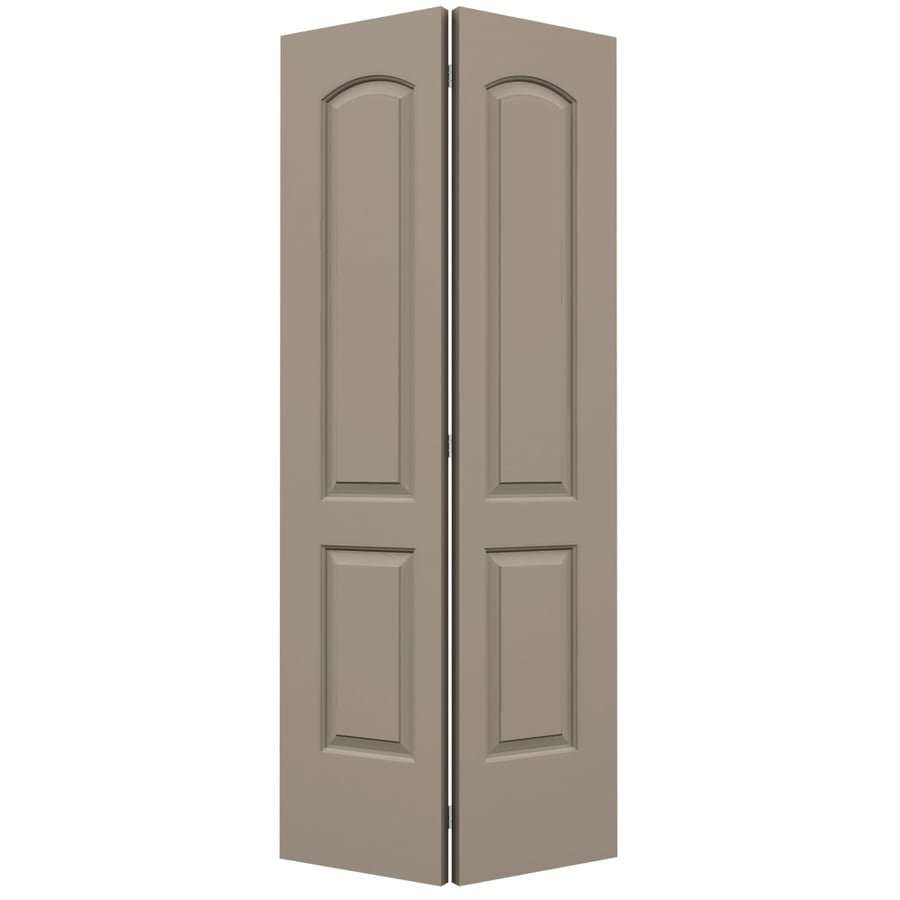 ReliaBilt Sand Piper Hollow Core 2-Panel Round Top Bi-Fold Closet Interior Door (Common: 36-in x 80-in; Actual: 35.5-in x 79-in)