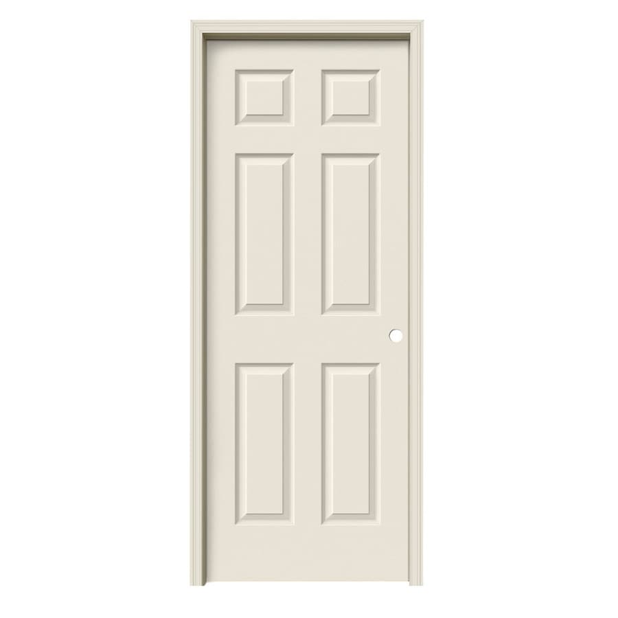 ReliaBilt 6-panel Single Prehung Interior Door (Common: 24-in x 80-in; Actual: 25.5000-in x 81.5000-in)
