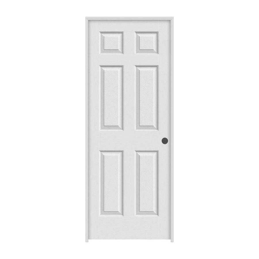 ReliaBilt 6-panel Single Prehung Interior Door (Common: 36-in x 80-in; Actual: 37.5-in x 81.5-in)