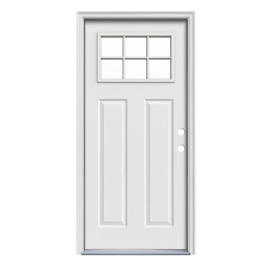 Exterior Doors Product : Shop jeld wen craftsman decorative glass left hand inswing