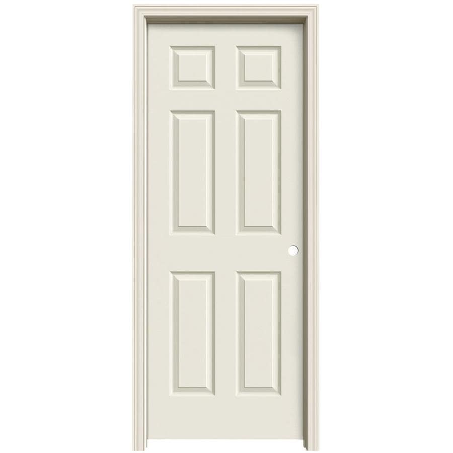 ReliaBilt Colonist Primed Solid Core Molded Composite Single Prehung Interior Door (Common: 32-in x 80-in; Actual: 33.563-in x 81.063-in)