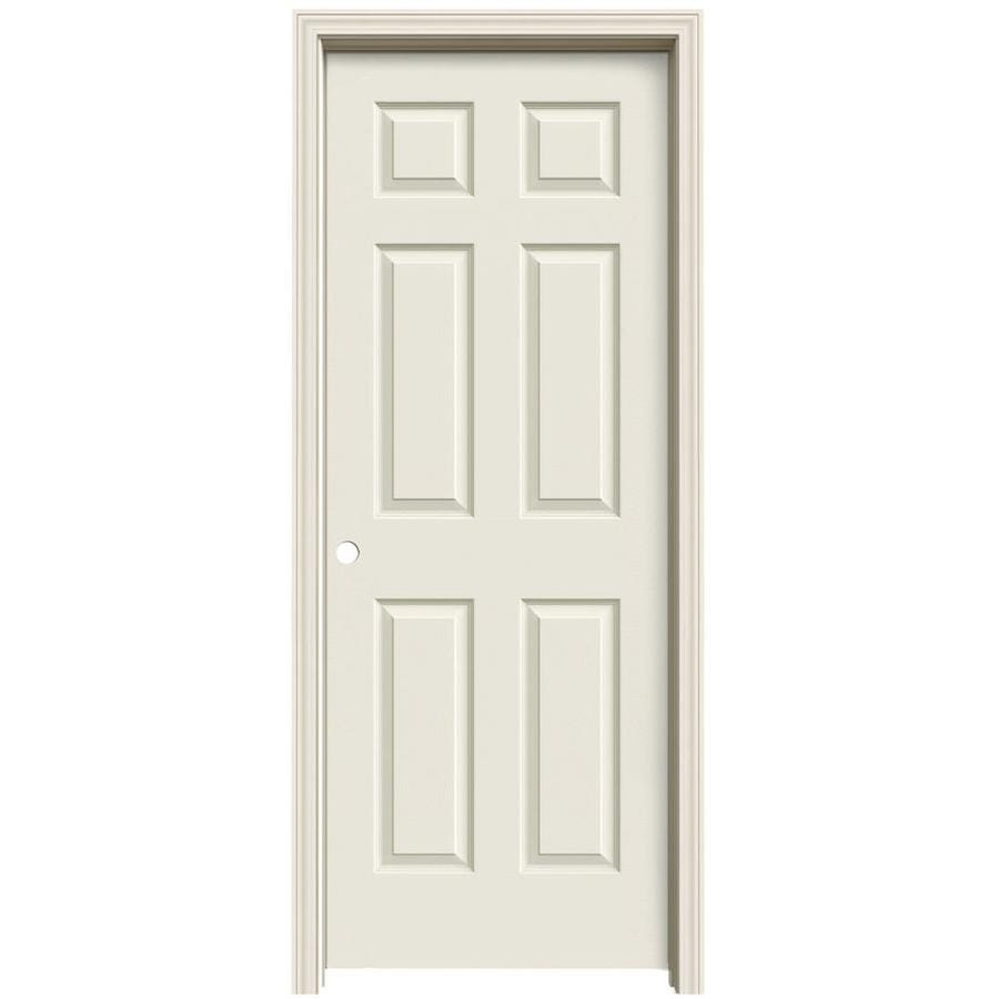 ReliaBilt Primed Solid Core Molded Composite Single Prehung Interior Door (Common: 24-in x 80-in; Actual: 25.563-in x 81.063-in)