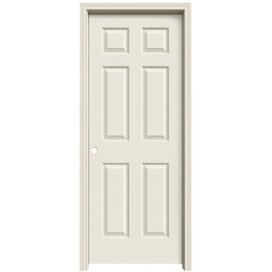 ReliaBilt Primed Solid Core Molded Composite Single Prehung Interior Door (Common: 32-in x 80-in; Actual: 33.563-in x 81.063-in)