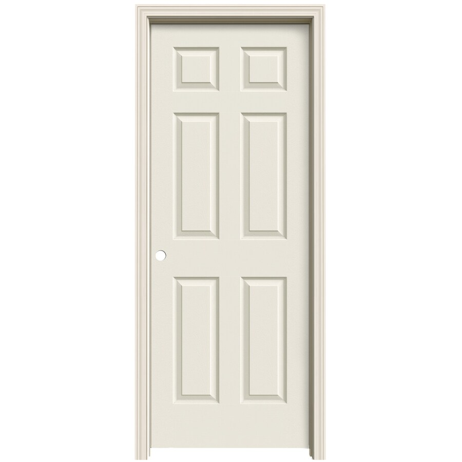 ReliaBilt 6-panel Single Prehung Interior Door (Common: 24-in x 80-in; Actual: 25.563-in x 81.063-in)