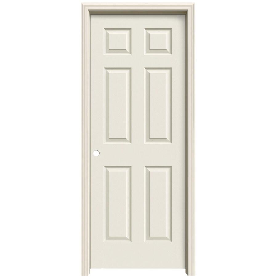 ReliaBilt (Primed) Prehung Solid Core 6-Panel Interior Door (Common: 32-in x 80-in; Actual: 33.563-in x 81.063-in)