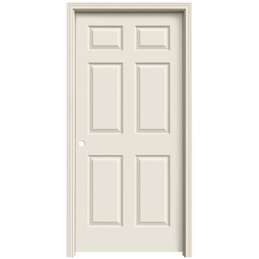 ReliaBilt Colonist Primed Solid Core Molded Composite Single Prehung Interior Door (Common: 36-in x 80-in; Actual: 37.563-in x 81.063-in)