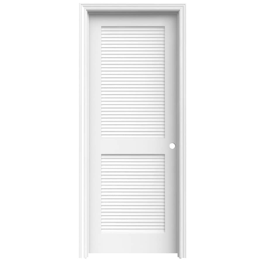 ReliaBilt Louver Full Louver Pine Single Prehung Interior Door (Common:  30 In X