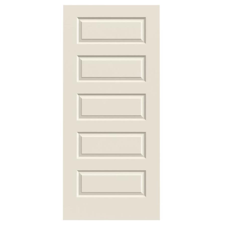 ReliaBilt Hollow Core 5-Panel Equal Slab Interior Door (Common: 36-in x 80-in; Actual: 36-in x 80-in)