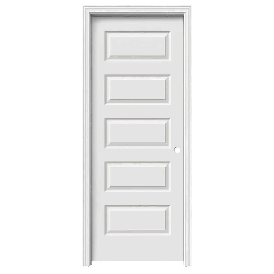ReliaBilt Prehung Hollow Core 5-Panel Equal Interior Door (Common: 24-in x 80-in; Actual: 25.56-in x 81.688-in)