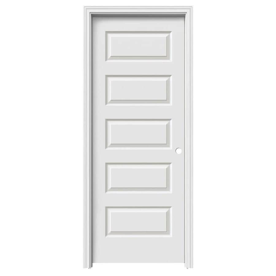 ReliaBilt 5-panel Equal Single Prehung Interior Door (Common: 28-in x 80-in; Actual: 29.56-in x 81.688-in)