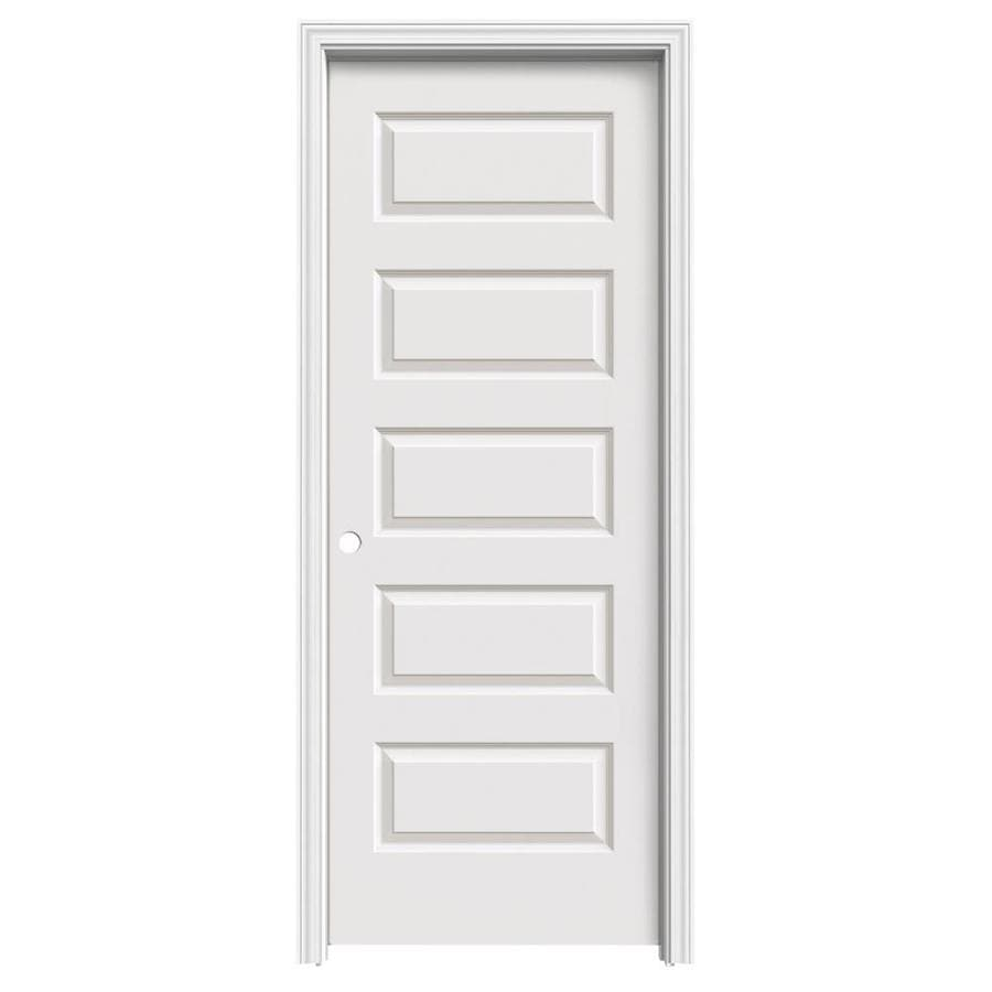 ReliaBilt Prehung Hollow Core 5-Panel Equal Interior Door (Common: 28-in x 80-in; Actual: 29.56-in x 81.688-in)