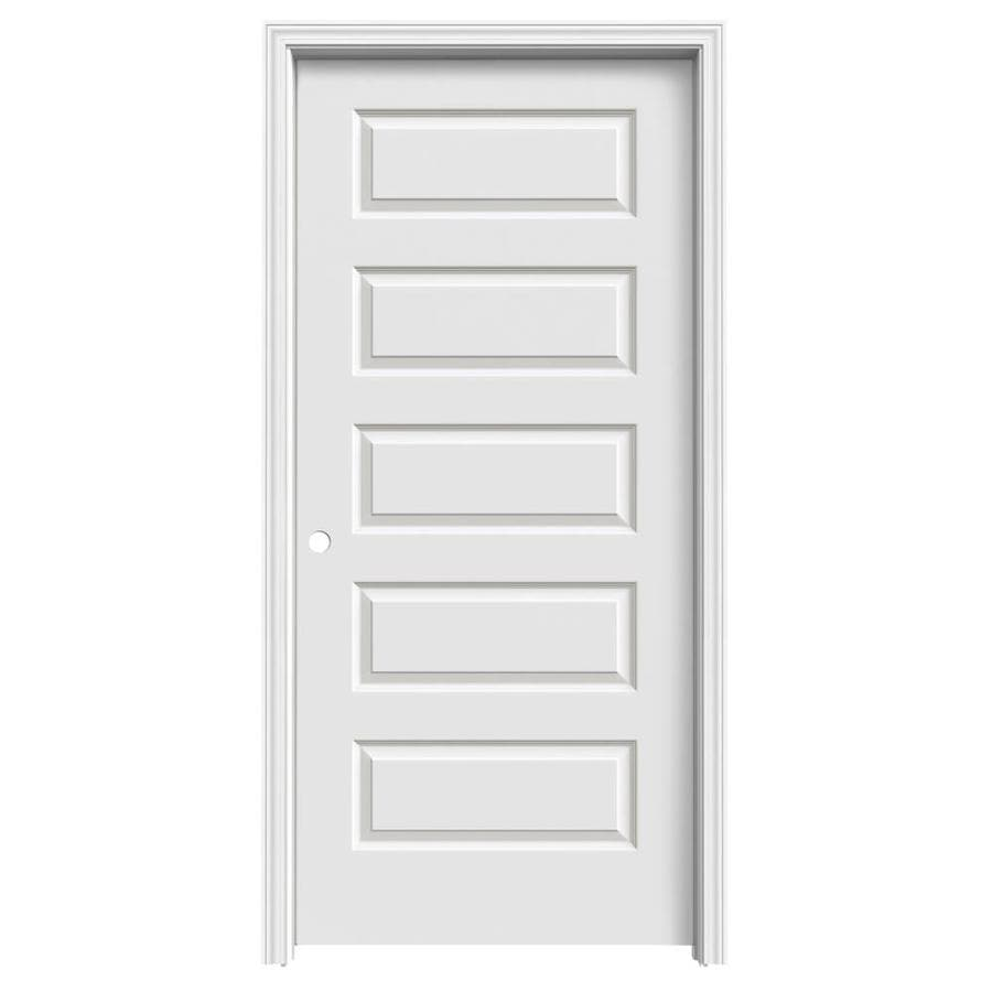 ReliaBilt Rockport Primed Hollow Core Molded Composite Single Prehung Interior Door (Common: 36-in x 80-in; Actual: 37.5600-in x 81.6880-in)