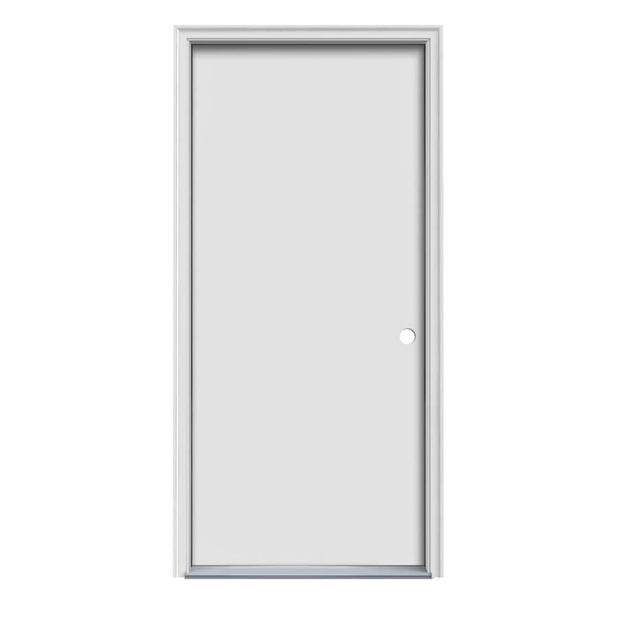 Shop ProSteel Decorative Glass Left Hand Inswing Steel Primed Entry Door Com