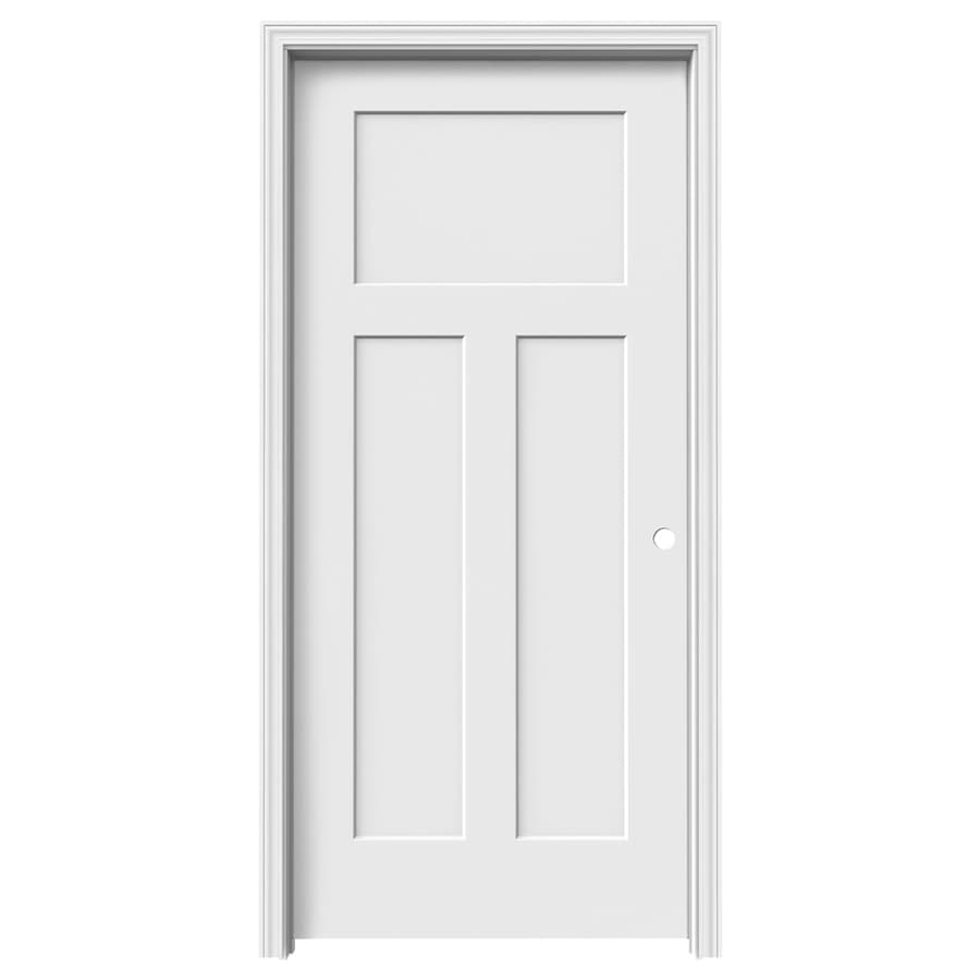 ReliaBilt Craftsman 3-panel Craftsman Single Prehung Interior Door (Common: 36-in x 80-in; Actual: 37.5620-in x 81.6880-in)