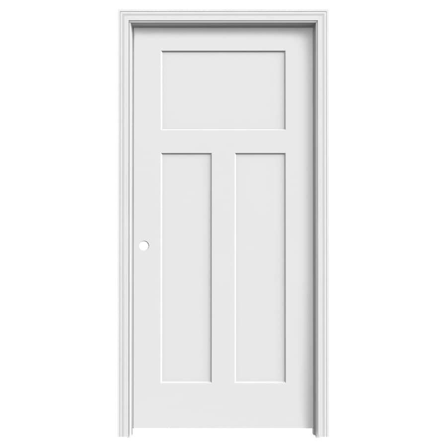 ReliaBilt Craftsman Primed Hollow Core Molded Composite Single Prehung Interior Door (Common: 36-in x 80-in; Actual: 37.5620-in x 81.6880-in)