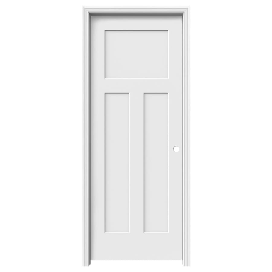 ReliaBilt Craftsman 3 Panel Craftsman Single Prehung Interior Door (Common:  24 In