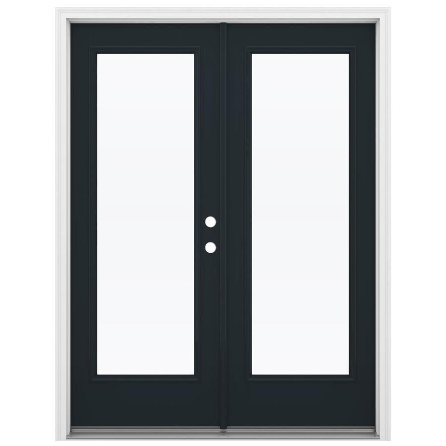 ReliaBilt 59.5-in 1-Lite Glass Eclipse Fiberglass French Inswing Patio Door