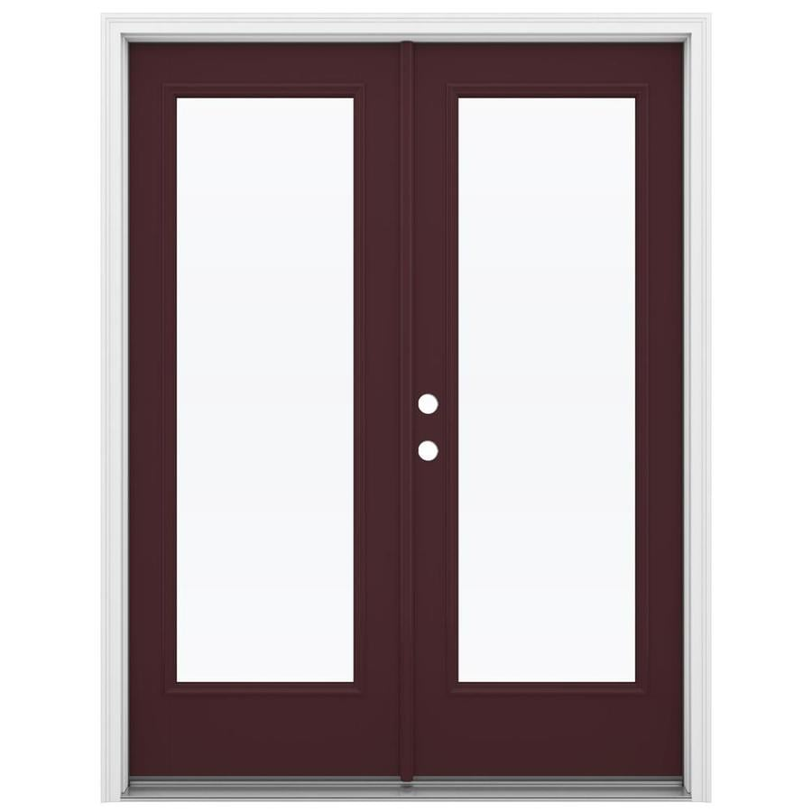Shop reliabilt 59 5 in 1 lite glass currant fiberglass for Fiberglass french patio doors