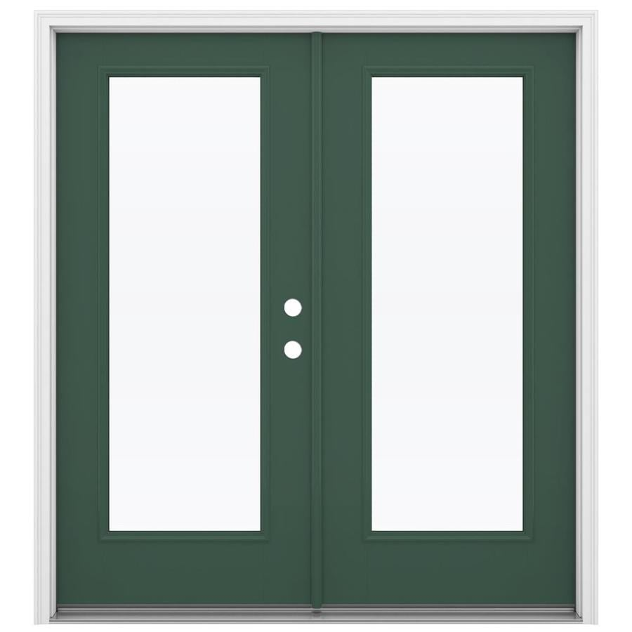 Reliabilt French Patio Doors: Shop ReliaBilt 71.5-in 1-Lite Glass Evergreen Fiberglass