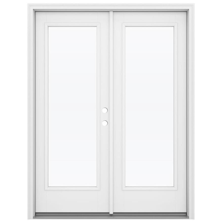 Shop reliabilt 59 5 in 1 lite glass primed fiberglass for Fiberglass patio doors
