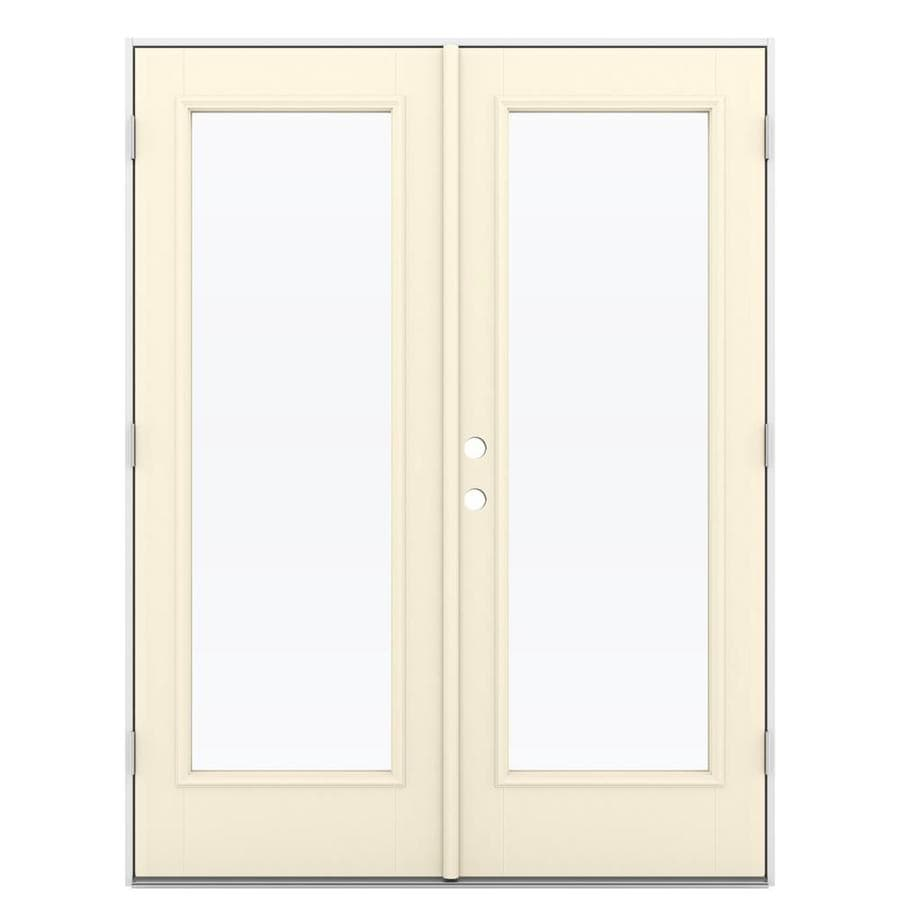 Shop reliabilt 59 5 in 1 lite glass bisque fiberglass for Fiberglass patio doors