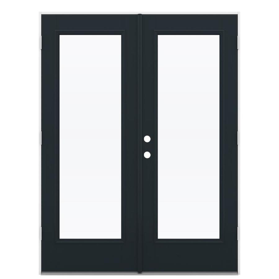 ReliaBilt 59.5-in 1-Lite Glass Eclipse Fiberglass French Outswing Patio Door