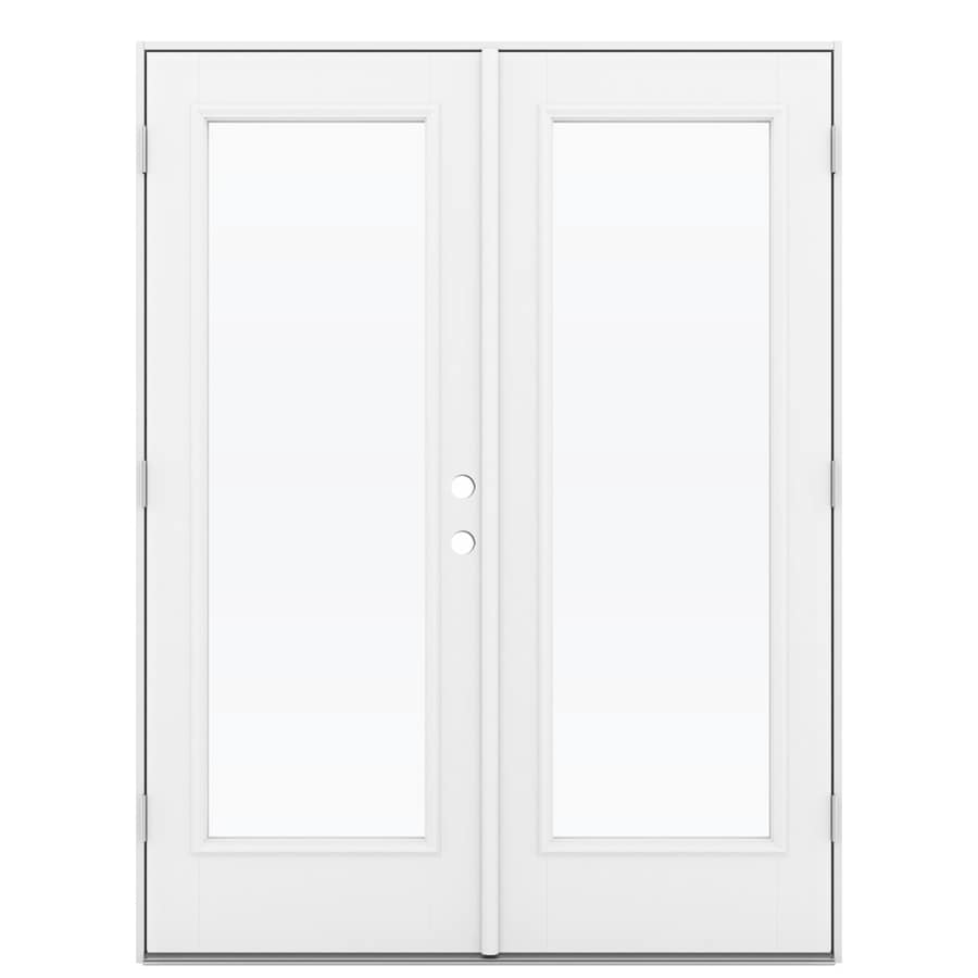 Shop reliabilt 59 5 in 1 lite glass primed fiberglass for 1 lite french door